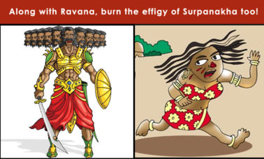 surpanakha-effigy-burning-aumaparna